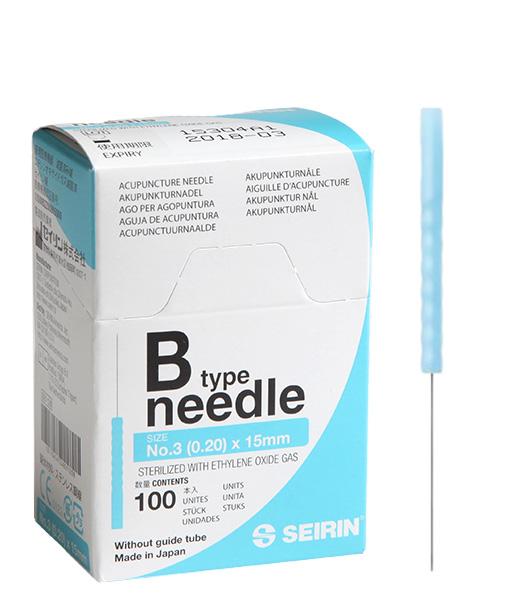 Akupunktioneula SEIRIN B 0,20x15mm, ilman ohjausputkea