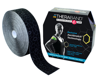 Thera-Band Kinesiotejp 31 m, svart