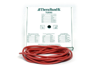 Thera-Band Tubing, 7,5M - RØD (MEDIUM)