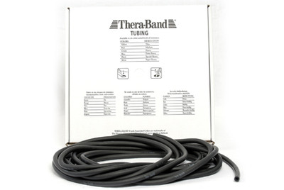 Thera-Band Tubing, 7,5M - SORT (SVÆRT HARD)