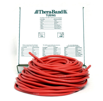 Thera-Band Tubing, 30,5M - RØD (MEDIUM)