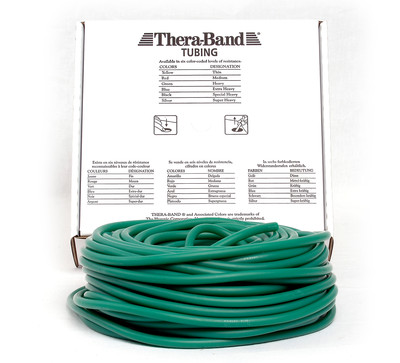 Thera-Band Tubing, 30,5M - GRØNN (HARD)