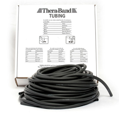 Thera-Band Tubing, 30,5M - SORT (SVÆRT HARD)