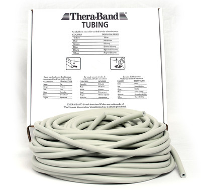 Thera-Band Tubing, 30,5M - Sølv (Super Hard)