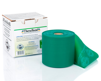 Thera-Band Latexfritt band 22m grön