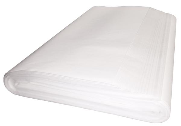 Benkpapir, hvite ark, korte 600 stk