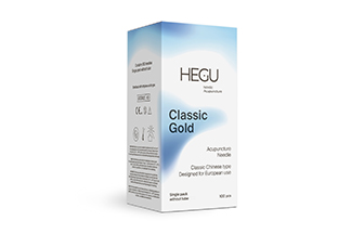 Akupunktioneula HEGU STANDARD 0,30x30mm, kultapäällysteinen