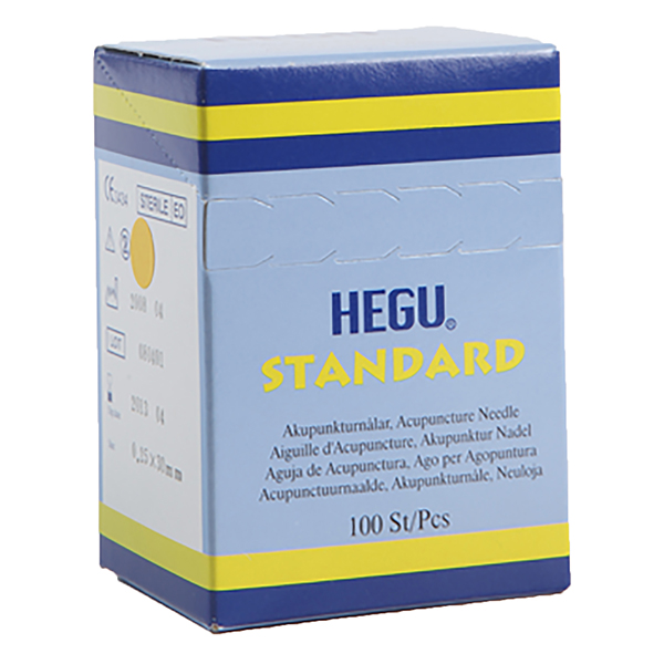 Akupunktioneula HEGU STANDARD 0,25x30mm, 5-pack