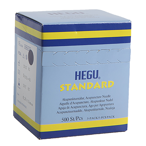 Akupunktioneula HEGU STANDARD 0,20x15mm, 5-pack