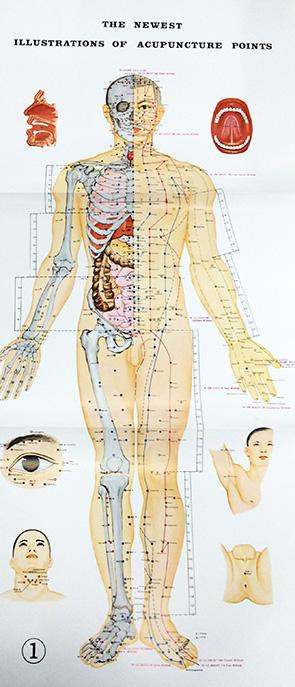 Akupunkturplansje, 3 stk.