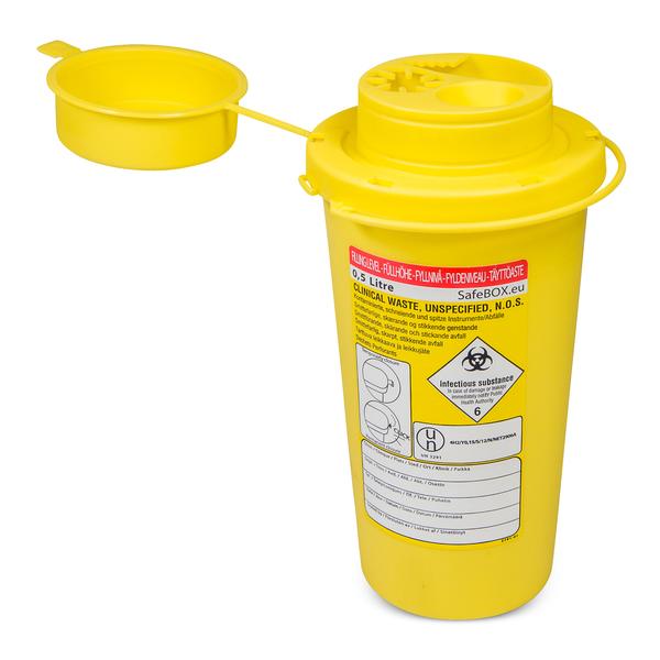 Riskavfallsburk 0,5 liter