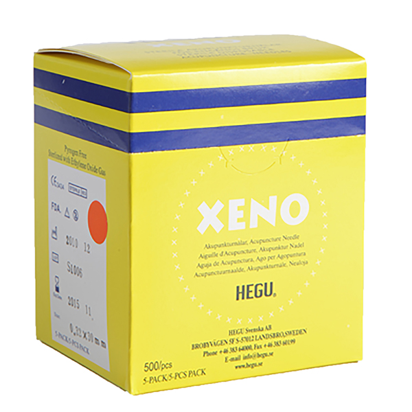 Akupunktioneula HEGU XENO 0,30x40mm, 5-pack